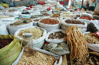 Spices and foods to take to China.